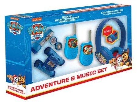Psi Patrol - zestaw przygoda 5w1: latarka, kompas, lornetka, walkie talkie, słuchawki